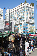 Elephant and Castle market on 23rd April 2015 in Lambeth, South London, United Kingdom.