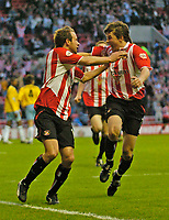 Photo. Jed Wee, Digitalsport<br /> NORWAY ONLY<br /> <br /> Sunderland v Crystal Palace, Nationwide League Division One Playoff Semi-finals Second Leg, 16/05/2004.<br /> Sunderland's Marcus Stewart (L) celebrates with John Oster.