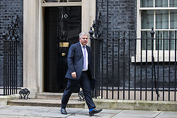 London, UK. 7 January, 2020. Brandon Lewis, Minister of State, leaves 10 Downing Street following a Cabinet meeting.