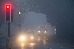 © Licensed to London News Pictures. 05/11/2020.  <br /> Bromley, UK. Foggy driving for motorists. Freezing cold foggy weather conditions this morning in Bromley, South East London as temperatures drop to -3 in some parts of the UK. Photo credit:Grant Falvey/LNP