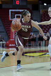 01 November 2017: Samantha Sarnes during a Exhibition College Women's Basketball game between Illinois State University Redbirds the Red Devils of Eureka College at Redbird Arena in Normal Illinois.