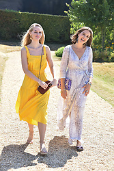 Ella Jackson and Genevieve Gaunt at the 'Cartier Style et Luxe' enclosure during the Goodwood Festival of Speed, Goodwood House, West Sussex, England. 15 July 2018.
