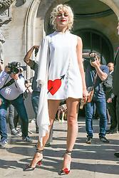 Pixie Lott attending Schiaparelli Haute Couture Fall Winter 2018/2019 show as part of Paris Fashion Week on July 2, 2018 in Paris, France. Photo by Laurent Zabulon/ABACAPRESS.COM