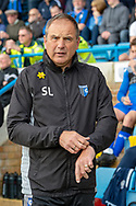 Gillingham FC manager Steve Lovell  during the EFL Sky Bet League 1 match between Gillingham and Rochdale at the MEMS Priestfield Stadium, Gillingham, England on 30 March 2019.