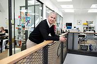 21 MAY 2012, BERLIN/GERMANY:<br /> Christophe F. Maire, Gruender / CEO txtr, Inhaber atlantic ventures, Investor und  Business Angel, nach einem Interview, txtr GmbH, Rosenthaler Str., Berlin-Mitte<br /> IMAGE: 20120521-02-046<br /> KEYWORDS: Christophe Maire