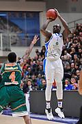 DESCRIZIONE : Eurocup 2014/15 Last32 Dinamo Banco di Sardegna Sassari -  Banvit Bandirma<br /> GIOCATORE : Rakim Sanders<br /> CATEGORIA : Tiro Tre Punti<br /> SQUADRA : Dinamo Banco di Sardegna Sassari<br /> EVENTO : Eurocup 2014/2015<br /> GARA : Dinamo Banco di Sardegna Sassari - Banvit Bandirma<br /> DATA : 11/02/2015<br /> SPORT : Pallacanestro <br /> AUTORE : Agenzia Ciamillo-Castoria / Luigi Canu<br /> Galleria : Eurocup 2014/2015<br /> Fotonotizia : Eurocup 2014/15 Last32 Dinamo Banco di Sardegna Sassari -  Banvit Bandirma<br /> Predefinita :
