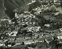 1938 Aerial view of Sunset Blvd near Sunset Plaza Dr. in West Hollywood