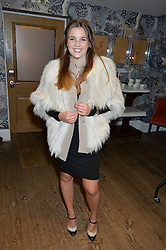 KATIE WATKINS at the Mila Furs Trunk Show held at the Haymarket Hotel, 1 Suffolk Place, London on 1st November 2016.