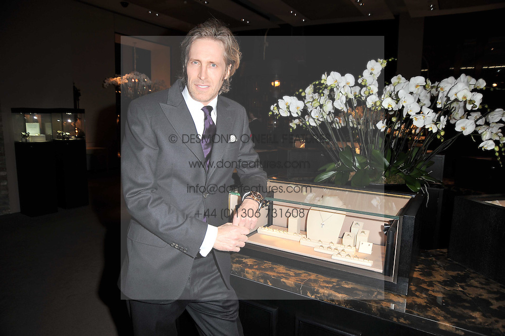 Creative Director of Asprey BRUCE HOEKSEMA at the BAFTA Nominees party 2011 held at Asprey, 167 New Bond Street, London on 12th February 2011.