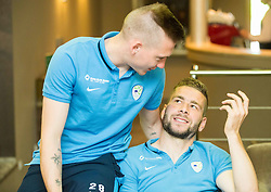 Matic Crnic and Nejc Skubic at Slovenia team gathering before friendly football match against National teams of Sweden and Turkey, on May 23, 2016 in Hotel Kokra, Brdo pri Kranju, Slovenia. Photo by Vid Ponikvar / Sportida