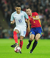 Football - 2016 / 2017 International Friendly - England vs. Spain<br /> <br /> Cesar Azpilicueta of Spain and Jesse Lingard of England at Wembley.<br /> <br /> COLORSPORT/ANDREW COWIE