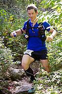 Kernhonkson, New York - Matthew Imberman runs along the trail at Minnewaska State Park Preserve during the Shawangunk Ridge Trail Run/Hike 32-mile race  on Sept. 20, 2014.