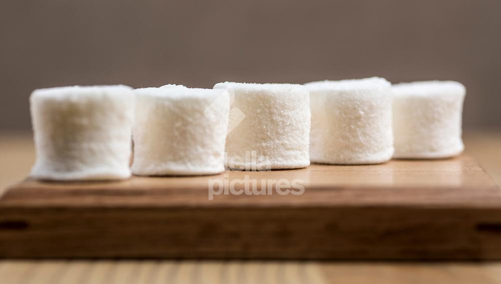Yuzu marshmallow at Untitled restaurant in east London.<br /> Picture by Daniel Hambury/Stella Pictures Ltd 07813022858<br /> 07/10/2017