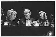 BARBARA WALTERS, RUPERT MURDOCH, ANNA MURDOCH, Humanitarian Awards dinner, Waldorf. June 1990