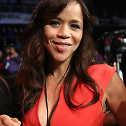 Actress Rosie Perez is seen during the Iron Mike Productions, ESPN Friday Night Fights boxing match at Turning Stone Resort Casino on Friday, June 6, 2014 in Verona, New York.  (AP Photo/Alex Menendez)