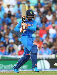 India's Ravindra Jadeja during the ICC Cricket World Cup Warm up match at The Oval, London.
