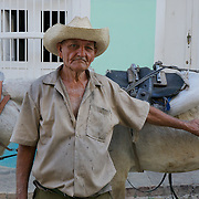 A local man delivering coal in Trinidad, Cuba.