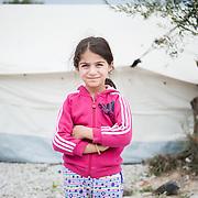 Rayyan 7 years old from Iraq in Kara Tepe camp in Lesvos, Greece
