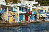 Grece, Cyclades, ile de Milos, village de pecheur de Klima // Greece, Cyclades islands, Milos island, fisher village of Klima