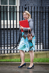 © Licensed to London News Pictures. 02/08/2016. London, UK. Secretary of State for Culture, Media and Sport Karen Bradley arrives on Downing Street for a meeting of the Cabinet Committee on Economy and Industrial Strategy. Photo credit: Rob Pinney/LNP