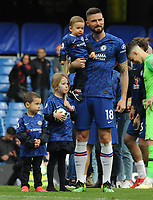 Football - 2018 / 2019 Premier League - Chelsea vs. Watford<br /> <br /> Chelsea's Olivier Giroud with his three Children, at Stamford Bridge.<br /> <br /> COLORSPORT/ANDREW COWIE
