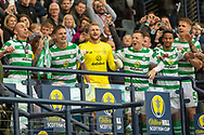 Celtic are Treble Treble Winners! Club Captain Scott Brown, Mikael Lustig, Scott Bain, Callum McGregor, Jonny Hayes, Scott Sinclair & Jozo Simunovic lift the Scottish CUp Trophy following their 2-1 win over Hearts in the William Hill Scottish Cup Final match between Heart of Midlothian and Celtic at Hampden Park, Glasgow, United Kingdom on 25 May 2019.