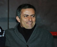 Jose Mourinho Manager Chelsea (All Smiles)<br />Manchester United V Chelsea 26/01/05<br />The Carling Cup Semi Final 2nd leg<br />Photo Robin Parker Fotosports International