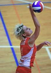 Bojana Stojkovic of Nova KBM at 1st match of finals of 1st DOL women volleyball league between OK Hit Nova Gorica and OK Nova KBM Branik, Maribor played in OS Milojke Strukelj, on April 8, 2009, in Nova Gorica, Slovenia. Nova KBM Branik won 3:1. (Photo by Vid Ponikvar / Sportida)