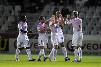 FOOTBALL - FRENCH CHAMPIONSHIP 2010/2011 - L2 - CLERMONT v EVIAN TG - 1/10/2010 - PHOTO JEAN MARIE HERVIO / DPPI - JOY EVIAN AFTER 2ND GOAL
