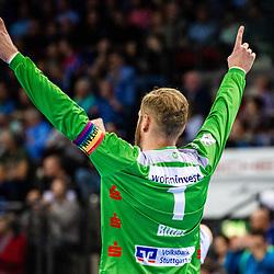 Johannes Bitter (TVB Stuttgart #1) beim Spiel in der Handball Bundesliga, TVB 1898 Stuttgart - HBW Balingen-Weilstetten.<br /> <br /> Foto © PIX-Sportfotos *** Foto ist honorarpflichtig! *** Auf Anfrage in hoeherer Qualitaet/Aufloesung. Belegexemplar erbeten. Veroeffentlichung ausschliesslich fuer journalistisch-publizistische Zwecke. For editorial use only.
