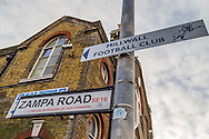 Zampa Road sign before the fourth round FA Cup match at The Den, London<br /> Picture by Richard Brooks/Focus Images Ltd 07947656233<br /> 29/01/2017