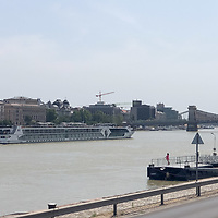Hotel boats returned to river Danube after the COVID-19 restrictions were lifted in downtown Budapest, Hungary on July 27, 2021. ATTILA VOLGYI