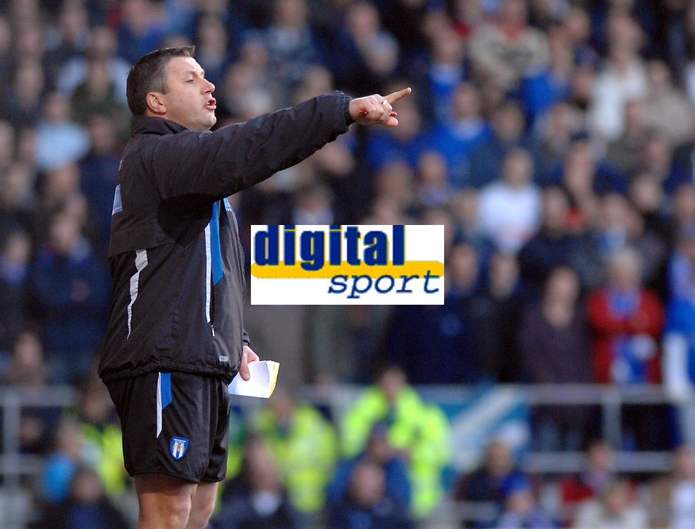 Photo: Ashley Pickering.<br />Ipswich Town v Colchester United. Coca Cola Championship. 20/01/2007.<br />Colchester manager, Geraint 'George' Williams