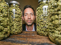 Aaron Justice, president of Buds & Roses, a medical marijuana dispensary in Studio City, CA. March 24, 2016.