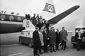 Rugby 1968 - 25/01 Irish Team departs Dublin Airport for Paris