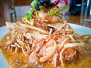 05 MAY 2010 - BANGKOK, THAILAND: Banana Flower salad at Chote Chitr restaurant in Bangkok.    PHOTO BY JACK KURTZ