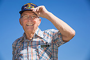 Navy Radarman 2nd Class Lee Scott poses for a portrait during the Memorial Day Ceremony at Milpitas City Hall's Veterans Plaza in Milpitas, California, on May 26, 2014. (Stan Olszewski/SOSKIphoto)