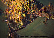 Aerial, autumn trees, covered bridges, Laurels Preserve, Brandywine Conservancy, Chester Co., PA, Southeast Pennsylvania Aerial Photograph Pennsylvania