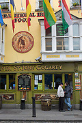The Oliver St. John Gogarty bar, a lively traditional Irish pub in Temple Bar, on 3rd April 2017 in Dublin, Republic of Ireland. Temple Bar is an area on the south bank of the River Liffey in central Dublin. Dublin is the largest city and capital of the Republic of Ireland.