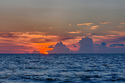spectacular sunrise over the ocean in Fort Lauderdale, Florida