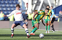 West Bromwich Albion's Jake Livermore shields the ball from Preston North End's Ryan Ledson<br /> <br /> Photographer Rich Linley/CameraSport<br /> <br /> The EFL Sky Bet Championship  - Preston North End v West Bromwich Albion- Saturday 29 September 2018 - Deepdale Stadium - Preston<br /> <br /> World Copyright © 2018 CameraSport. All rights reserved. 43 Linden Ave. Countesthorpe. Leicester. England. LE8 5PG - Tel: +44 (0) 116 277 4147 - admin@camerasport.com - www.camerasport.com
