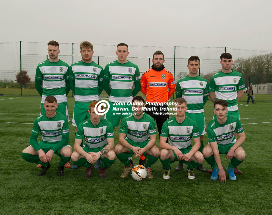 24-11-19. Parkvilla v Trim Celtic - NEFL Challenge Cup Semi-Final at the Grounds MDL, Navan.<br /> The Trim Celtic team which defeated Parkvilla L to R.<br /> Back: Sean Fitzgerald, Paddy Brophy, Aaron Williamson, Aaron Ryan, James Goggins, Callum Ennis.<br /> Front: Conor Walsh, Dean Courtney, Brian Faulkner, Eoin O'Connor and Jack O'Keeffe.<br /> Photo: John Quirke / www.quirke.ie<br /> ©John Quirke Photography, Unit 17, Blackcastle Shopping Cte. Navan. Co. Meath. 046-9079044 / 087-2579454.