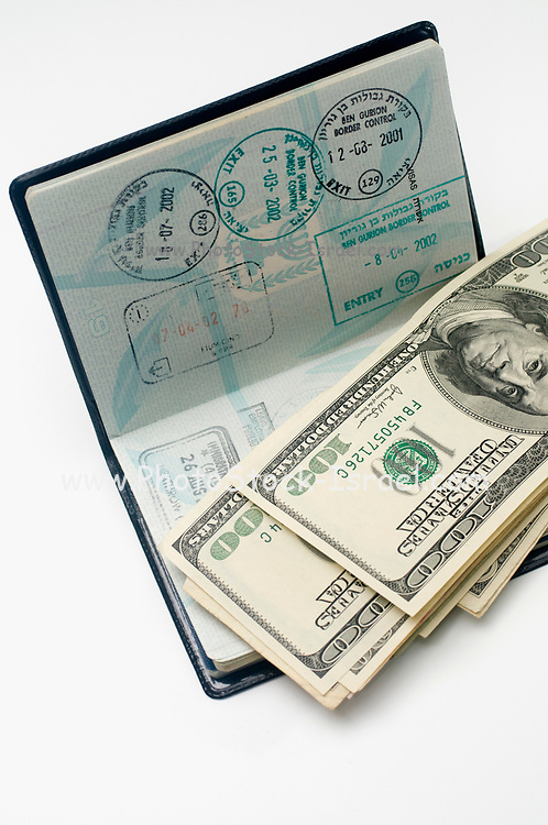 A used passport and US dollars