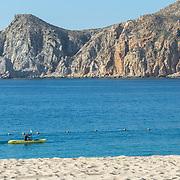 Kayaker at Cabo San LucasBay. BCS.