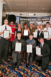 Army Prep course and Oath of Allegiance Doncaster taking the oath were James Brewin, Brian Blackborn, Kyle Walsh, Ashley McMillan, Josh Williams, Joel Tracey, Elizabeth MacSween pictured with Sgt Bacchaus, Training Organiser for NACRO Julie Harris, Colonel JP Sykes Deputy Commander 15 (North East) Brigade and Councillor Eva Hughes - Doncaster's civic mayor..www.pauldaviddrabble.co.uk.7 December 2011  Image © Paul David Drabble