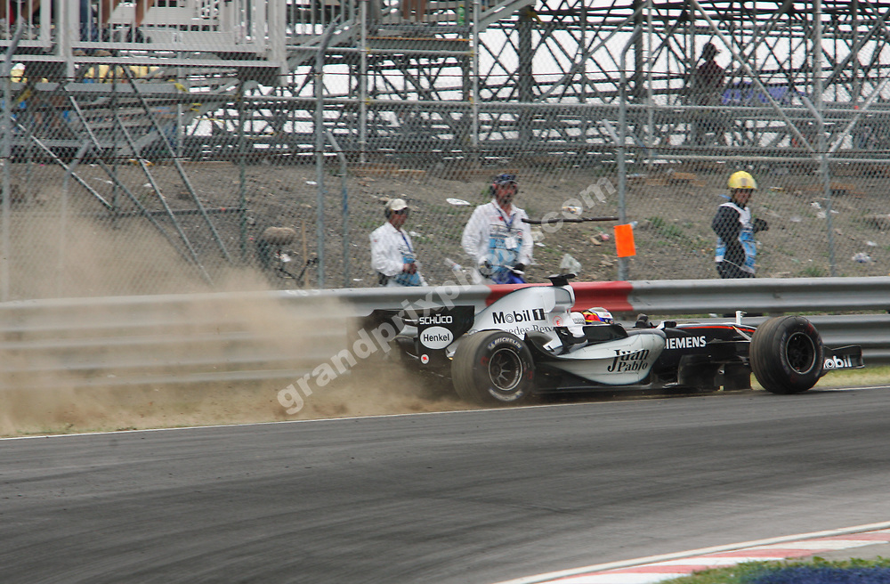 Juan-Pablo Montoya had a small off in the 2005 Canadian Grand Prix at the Circuit Gilles Villeneuve in Montreal.Photo: Grand Prix Photo