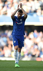 Chelsea's Olivier Giroud applauds the fans at full time