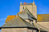 France, Manche (50), Cotentin, Barfleur, labellisé Les Plus Beaux Villages de France, l'eglise Saint-Nicolas // France, Normandy, Manche department, Cotentin, Barfleur, labeled Les Plus Beaux Villages de France, Saint-Nicolas church