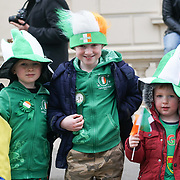 Hundreds participate for the London's St Patrick's Parade  on 19th March 2017. by See Li