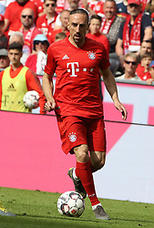 18.05.2019, Allianz Arena, Muenchen, GER, 1. FBL, FC Bayern Muenchen vs Eintracht Frankfurt, 34. Runde, Meisterfeier nach Spielende, im Bild Franck Ribery Aktion // during the celebration after winning the championship of German Bundesliga season 2018/2019. Allianz Arena in Munich, Germany on 2019/05/18. EXPA Pictures © 2019, PhotoCredit: EXPA/ SM<br /> <br /> *****ATTENTION - OUT of GER*****